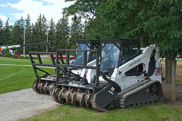 Bobcat Of Brantford >> Bobcat with Forestry Head Land Clearing Equipment Rental Ontario, Canada | Total Rentals